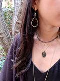 AUBREY hematite Necklace by NICOLE LEIGH Jewelry