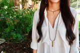 AUBREY pyrite Necklace by NICOLE LEIGH Jewelry