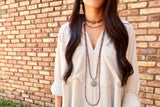 KENDALL gunmetal Necklace by NICOLE LEIGH Jewelry