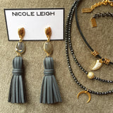 ASHLEIGH hematite Necklace by NICOLE LEIGH Jewelry