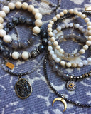BELLE gray agate Bracelet by NICOLE LEIGH Jewelry