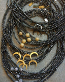 AVERY hematite Necklace by NICOLE LEIGH Jewelry