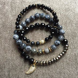 BRIDGETTE onyx Bracelet by NICOLE LEIGH Jewelry