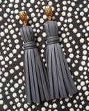 LEXI LEATHER gold Earrings by NICOLE LEIGH Jewelry