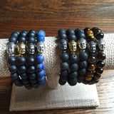 JOHN matte lapis Men's by NICOLE LEIGH Jewelry
