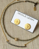 AVERY pyrite Necklace by NICOLE LEIGH Jewelry