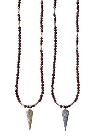 HARLOW garnet Necklace by NICOLE LEIGH Jewelry