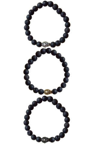 JOHN lava rock Men's by NICOLE LEIGH Jewelry