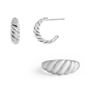 Croissant Set - Sterling Silver