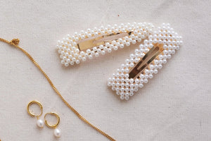 Barrettes Pearly