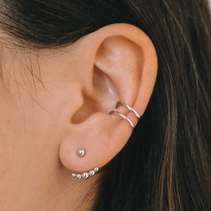Ear Cuff Vibe - Argent Sterling