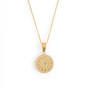 Zodiac Necklace - Gold Plated