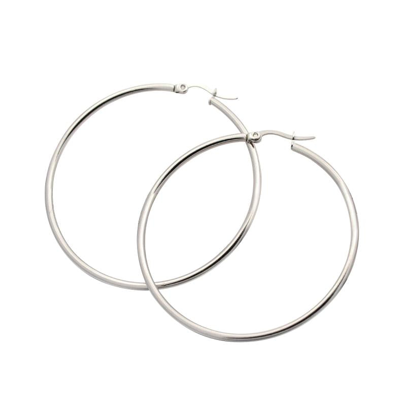 55 mm Hoops - Sterling Silver