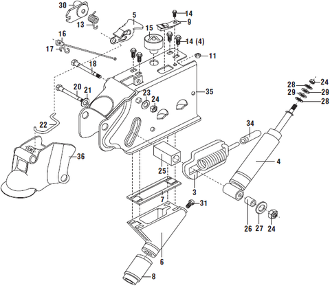 Atwood Hydraulic Brake Actuator Parts List And Schematic