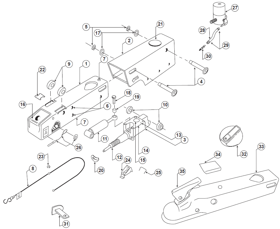 ufp brake actuator parts list and schematic pacific trailers ufp schematic