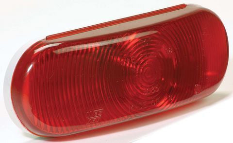 "6"" Red Oval Tail Light Module 62010-R - Pacific Boat Trailers"
