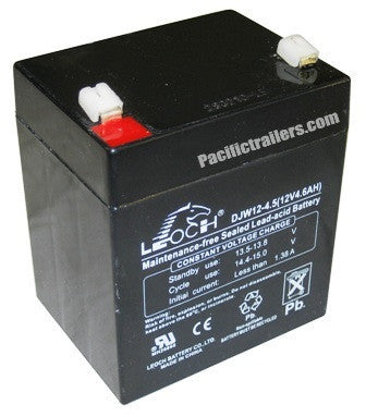 Replacement 12 Volt DC Battery for Breakaway Kits. #5.0 AH BATTERY - Pacific Boat Trailers