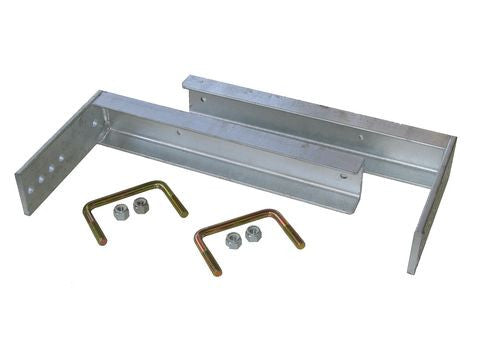 Galvanized Storage Box Frame Side Mounting Brackets #BH1014 - Pacific Boat Trailers