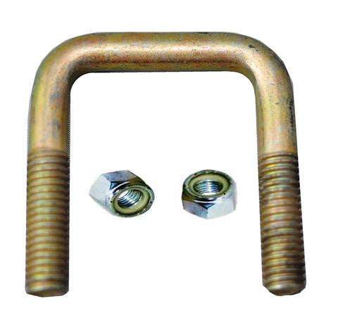 "Square Trailer U-Bolt - Zinc Plated Steel - 1 3/4"" wide x 2 1/4"" tall x 7/16"" Diameter - Pacific Boat Trailers"