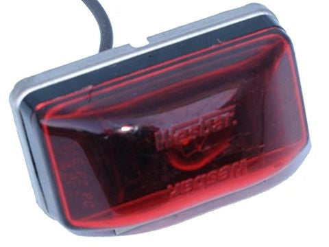 Wesbar Waterproof Clearance/Side Marker Light (Red). #003239 - Pacific Boat Trailers