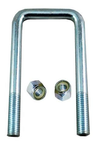 "1/2"" Square Zinc Plated Trailer U-Bolt w/lock nuts A=2 1/8"" B=5 3/4"" - Pacific Boat Trailers"
