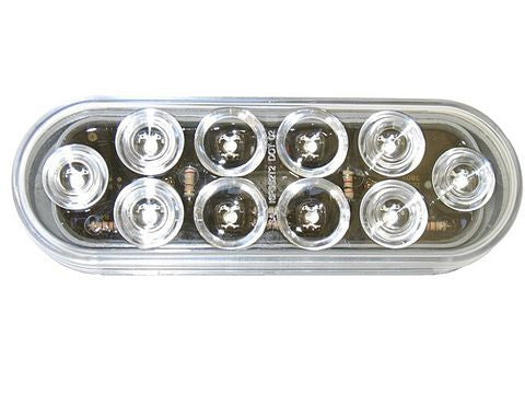 "Clear LED 6"" Oval Stop, Tail, Turn Light - Pacific Boat Trailers"