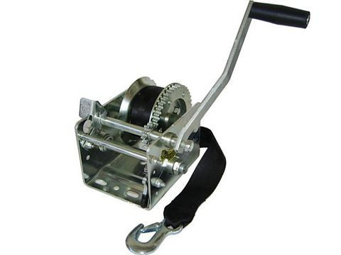 Fulton 2 Speed Trailer Hand Winch w/Strap, 2000lb. #T2005Z0301 - Pacific Boat Trailers