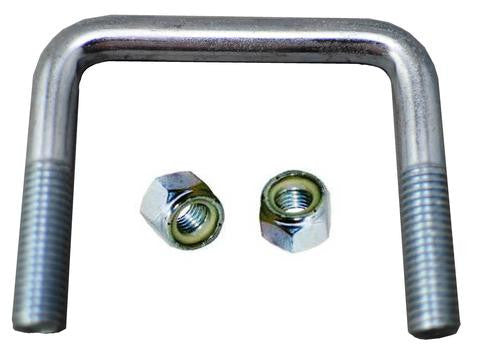 "1/2"" Square Zinc Plated Trailer U-Bolt w/lock nuts A=3 1/8"" B=2 3/4"" - Pacific Boat Trailers"