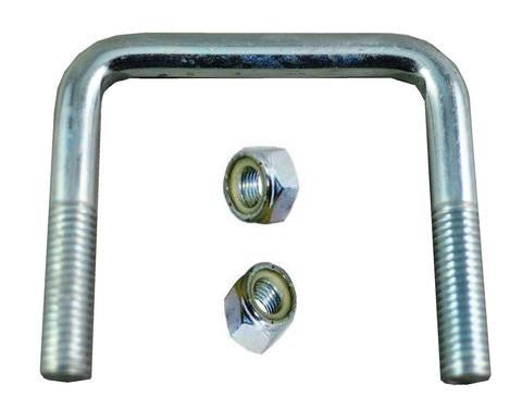 "1/2"" Square Zinc Plated Trailer U-Bolt w/lock nuts A=3 1/8"" B=3"" - Pacific Boat Trailers"