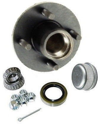 "Trailer Wheel Hub KIT for 2500lb. axles - L44649 Bearings - 4 on 4"" #PT4X44HUBKIT25KSTS - Pacific Boat Trailers"