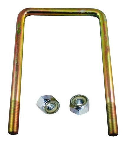 "1/2"" Square Zinc Plated Trailer U-Bolt w/lock nuts A=4 1/8"" B=6 3/4"" - Pacific Boat Trailers"
