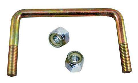 "1/2"" Square Zinc Plated Trailer U-Bolt w/lock nuts A=5 1/8"" B=3"" - Pacific Boat Trailers"