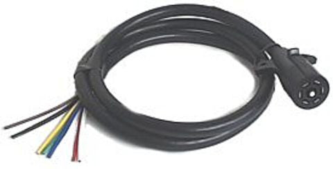 7-Pole RV Blade Trailer End Plug & 6' Cable - Pacific Boat Trailers