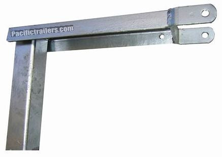 Boat Trailer Winch Mount Top - Galvanized - Top Mount - Pacific Boat Trailers
