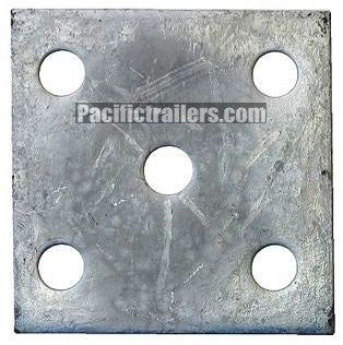 "5-Hole Axle U-Bolt Tie Plate, 9/16"" Holes for 2"" wide trailer axles # AU0101G - Pacific Boat Trailers"