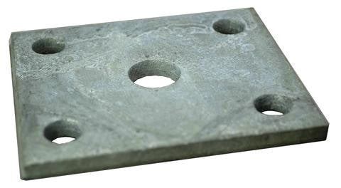 "Trailer Axle Mounting Plate 3/8"" Holes for 2"" wide trailer axles - Pacific Boat Trailers"