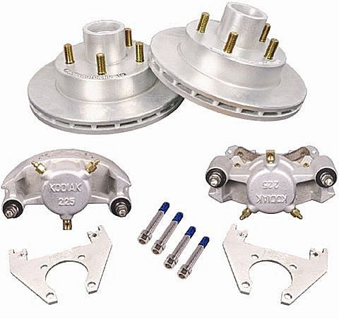 "Kodiak Disc Brake Kit, Dacromet Rotors/Stainless Calipers - 10"" Brakes - #2/HRCM-10-DAC-SS-K - Pacific Boat Trailers"