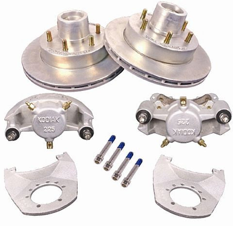 "Kodiak Disc Brake Kit, 12"" Dacromet Rotors/Stainless Calipers - 5200-6000lb. Axles #2/HRCM-12-DAC-SS-K - Pacific Boat Trailers"