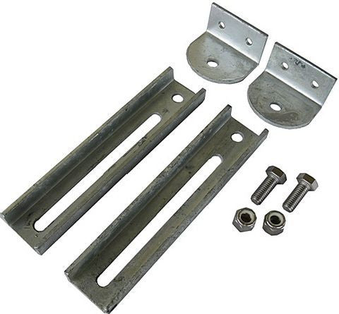 "Boat Trailer Bunk Bracket Kit, 12"" Slotted/Galvanized - Pacific Boat Trailers"