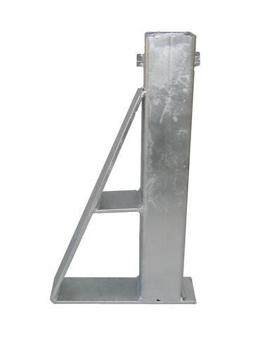 Straight Galvanized Boat Trailer Winch Post Base - Pacific Boat Trailers