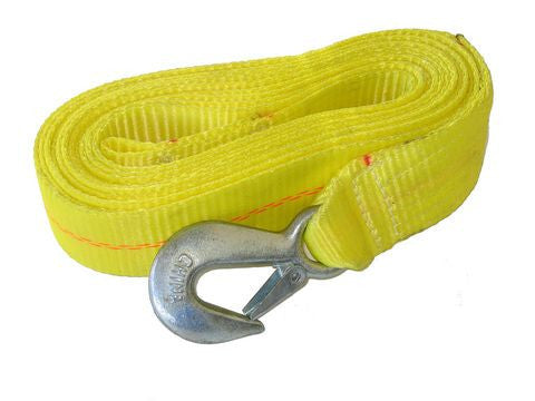 "Heavy Duty Trailer Winch Strap w/Hook 2"" x 20"", 10000lb. #WS20HD0200 - Pacific Boat Trailers"