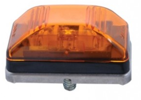 Amber LED Stud Mount Clearance Light w/ Stainless Steel Base - Pacific Boat Trailers