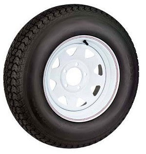 "GOODYEAR MARATHON Radial Trailer Tire, ST225/75R-15"" D Painted Wheel (6 lug) & Radial Tire. - Pacific Boat Trailers"