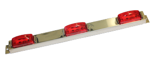 Sealed 3-Light Identification Light Bar # ID-85010-R - Pacific Boat Trailers