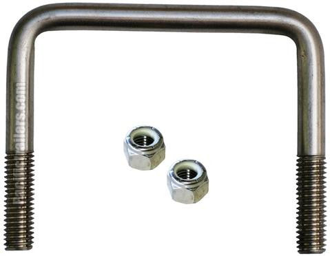 "Stainless Steel U-Bolts, 1/2""-Square Bend A=4 1/8"" B=3 1/2"" - Pacific Boat Trailers"