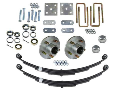 Trailer Axle Mounting Kit w/Zinc Plated 5 lug Hubs, 3500lb. Axles - Pacific Boat Trailers