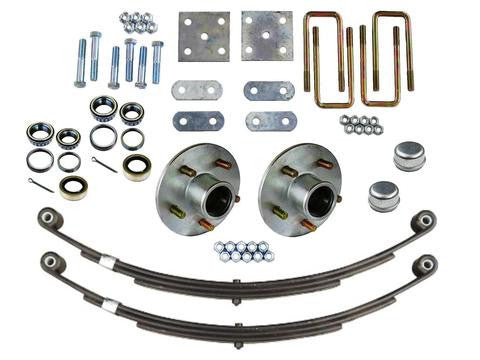 Trailer Axle Mounting Kit With 5 lug Hubs, 2500lb. Axles - Pacific Boat Trailers