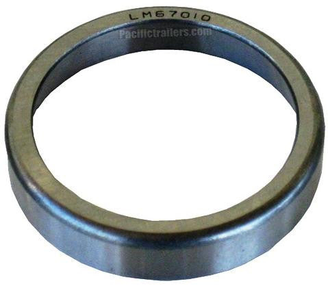 Bearing Race/Cup #67010 for use with LM67048 bearings - Pacific Boat Trailers