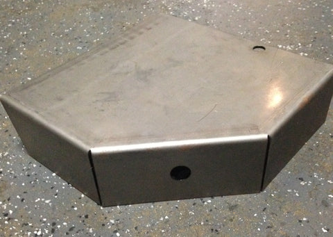 "Trailer Step Plate, Weld-On, 3"" x 10"" x 10"" x 15 degrees, LR or RF - Pacific Boat Trailers"