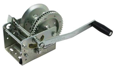 FULTON T142424 Two-Speed 3200 LB Trailer Hand Winch # 142424 - Pacific Boat Trailers